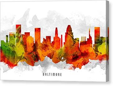 Baltimore Maryland Cityscape 15 Canvas Print