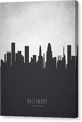 Baltimore Maryland Cityscape 19 Canvas Print by Aged Pixel