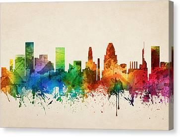 Baltimore Maryland Skyline 05 Canvas Print
