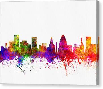 Baltimore Maryland Skyline Color02 Canvas Print