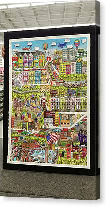 Baltimore, My Hometown Canvas Print by Valerie Batts