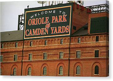 Leagues Canvas Print - Baltimore Orioles Park At Camden Yards by Frank Romeo