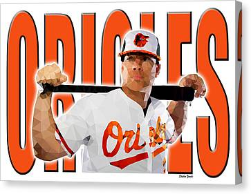 Baltimore Orioles Canvas Print by Stephen Younts