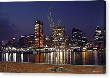 Canvas Print featuring the photograph Baltimore Reflections by Brian Wallace