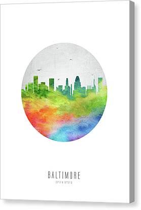 Baltimore Skyline Usmdba20 Canvas Print