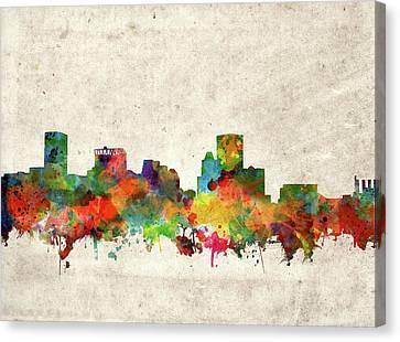 Baltimore Skyline Watercolor 2 Canvas Print by Bekim Art