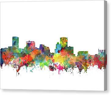 Baltimore Skyline Watercolor 3 Canvas Print by Bekim Art