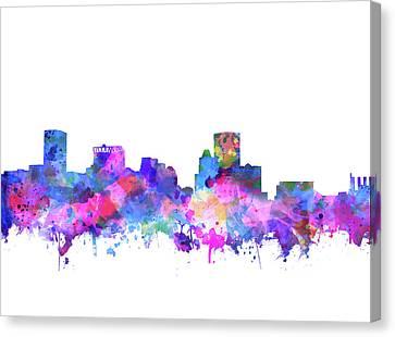 Baltimore Skyline Watercolor 4 Canvas Print by Bekim Art