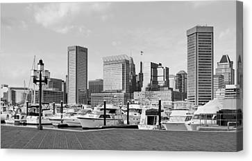 Baltimore Waterfont - Inner Harbor  Canvas Print by Brendan Reals