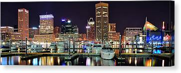 Baltimore Waterfront Canvas Print by Frozen in Time Fine Art Photography