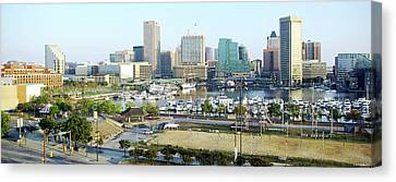 Canvas Print featuring the photograph Baltimore's Inner Harbor by Brian Wallace
