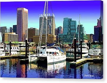 Baltimore's Inner Harbor Canvas Print by Stephen Younts
