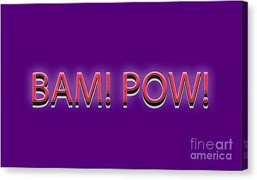 Bam Pow Tee Canvas Print by Edward Fielding
