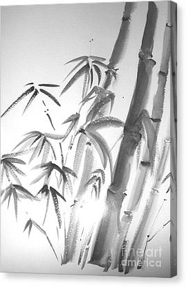 Canvas Print featuring the painting Bamboo 2 by Sibby S