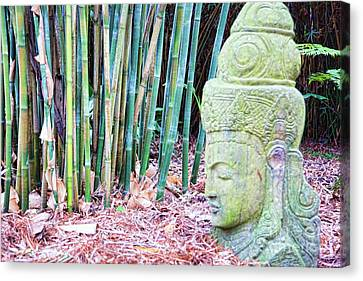 Bamboo House Canvas Print - Bamboo Asia Sculpture  by Chuck Kuhn