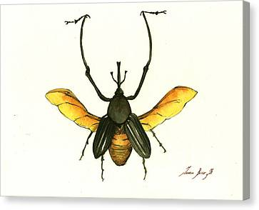 Beetle Canvas Print - Bamboo Beetle by Juan Bosco