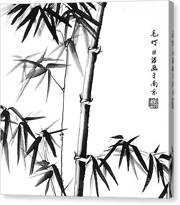 Bamboo - Chinese Style - Unframed Canvas Print