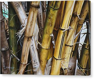 Bamboo Cluster Canvas Print