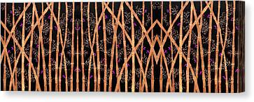Trees Canvas Print - Bamboo Forest At Night by Sumit Mehndiratta