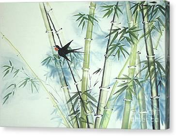 Bamboo Forest - Green Canvas Print by Birgit Moldenhauer