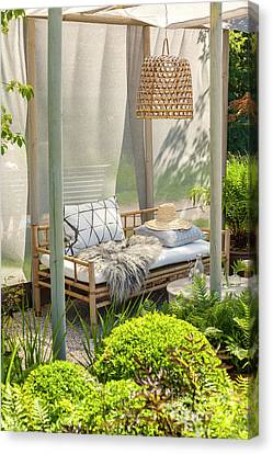 Bamboo Garden Furniture Canvas Print by Sophie McAulay