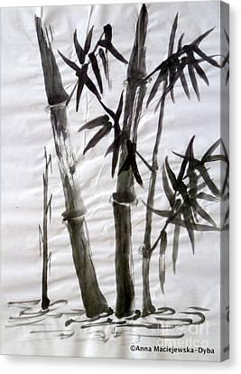 Bamboo Grove 6 Canvas Print by Anna Folkartanna Maciejewska-Dyba