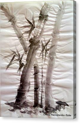 Bamboo Grove Canvas Print by Anna Folkartanna Maciejewska-Dyba