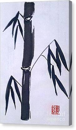 Bamboo In Black And White Canvas Print