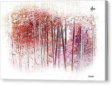 Bamboo Canvas Print by Eena Bo