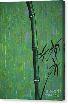Canvas Print featuring the painting Bamboo by Jacqueline Athmann