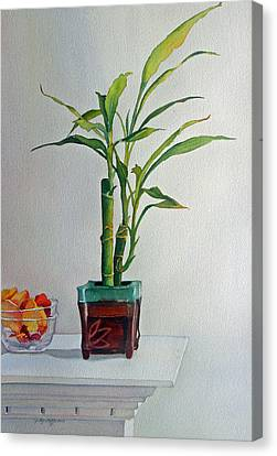Canvas Print featuring the painting Bamboo by Judy Mercer