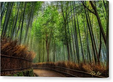Canvas Print featuring the photograph Bamboo Path by Rikk Flohr
