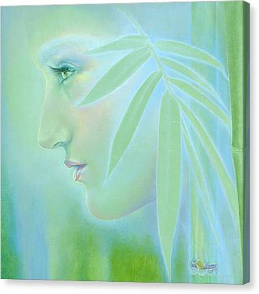 Canvas Print featuring the painting Bamboo by Ragen Mendenhall