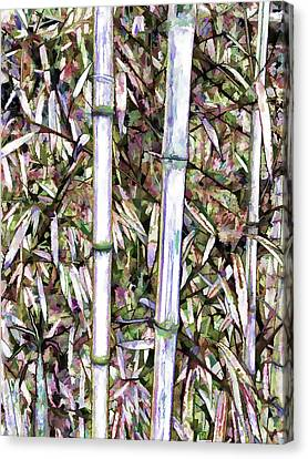 Bamboo Stalks Canvas Print by Lanjee Chee