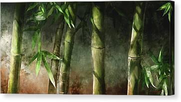 Earth Canvas Print - Bamboo Stalks by Steve Goad
