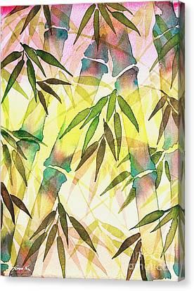 Bamboo Sunrise Canvas Print