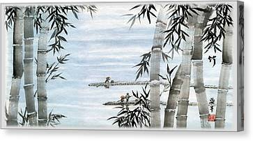 Bamboo Village Canvas Print