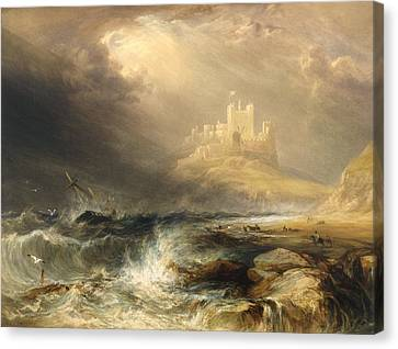 Bamborough Castle Canvas Print by Willliam Andrews Nesfield