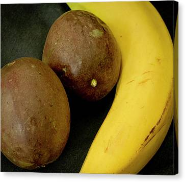 Banana And Maracujas. Canvas Print by Elena Perelman