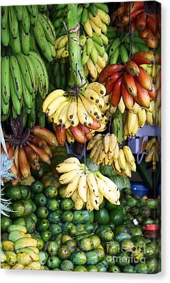 Sri Lanka Canvas Print - Banana Display. by Jane Rix