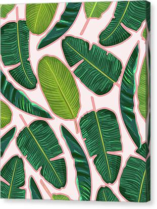 Banana Leaf Blush Canvas Print
