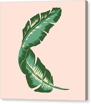Fruits Canvas Print - Banana Leaf Square Print by Lauren Amelia Hughes