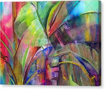 Banana Leaves IIi Canvas Print by Maritza Bermudez