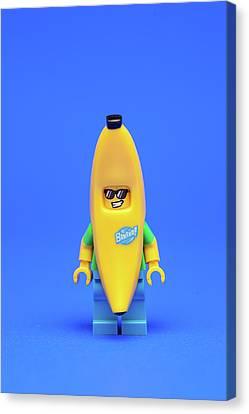 Minifig Canvas Print - Banana Man by Samuel Whitton