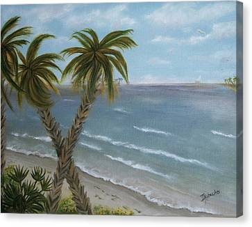 Canvas Print featuring the painting Banana River by Dawn Harrell