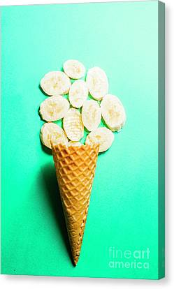 Copyspace Canvas Print - Bananas Over Sorbet by Jorgo Photography - Wall Art Gallery