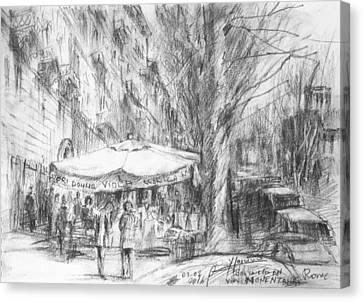 Bancarelle In Via Nomentana Rome Canvas Print