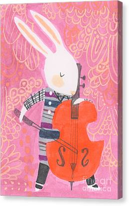 Cello Band Geek Canvas Print by Kate Cosgrove