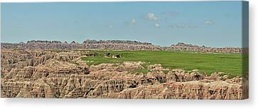 Badlands Panorama Canvas Print by Nancy Landry