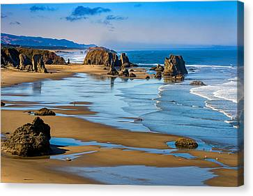 Bandon Beach Canvas Print by Darren  White
